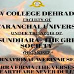 "International Webinar series – ""Terra Firma:  The verses of Earth are never dull"""