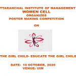 Women Cell of Uttaranchal Institute of Management, Uttaranchal University organizes Poster-Making Competition