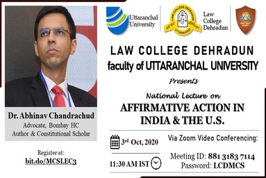 National Lecture 3rd October