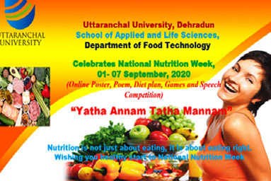 "Uttaranchal University organizes ""Nutrition Week Celebration"""