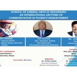 School Of Liberal Arts Is Organizing An International Lecture On Communication In Fluency Enhancement, Friday 27 November 2020 Start at 11 AM (IST)