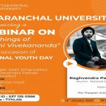"Webinar on ""Teachings of Swami Vivekananda"" on the occasion on National Youth Day."