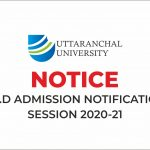 Notice: Ph.D. Admission Notification Session 2020-21