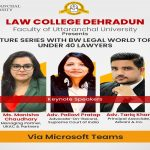 Lecture Series with BW Legal World Top 40  under 40 Lawyers