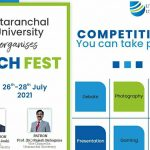 Uttaranchal University welcomes you to the Online Inauguration of Tech Fest – 2021 organized by Cultural and Events Committee Uttaranchal University.